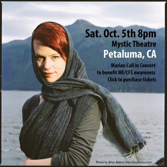 Marian Call in concert in Petaluma, CA, Sat. Oct. 5th at 8pm. Click for tickets